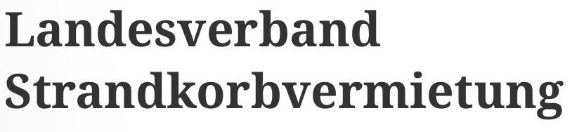 Landesverband der Strandkorbvermieter Schleswig-Holstein e